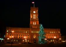 Natal na cidade fotografia de stock royalty free