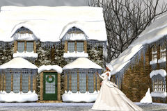 Natal na Idade Média Imagem de Stock Royalty Free