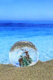 Natal na praia imagem de stock royalty free