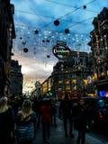 Natal na rua de Oxford, Londres Imagem de Stock