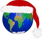 Natal na terra do planeta ilustração royalty free