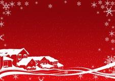 Natal nevado Imagens de Stock Royalty Free