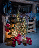 Natal no celeiro Fotos de Stock Royalty Free