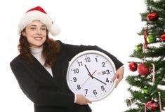 Natal no escritório Foto de Stock Royalty Free