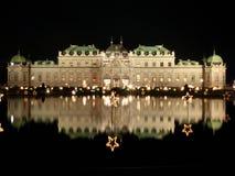 Natal no palácio do Belvedere imagens de stock