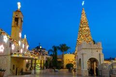 Natal no quadrado bom de Mary, Nazareth Fotografia de Stock