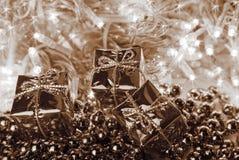 Natal no sepia Fotografia de Stock Royalty Free