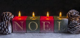 Natal Noel Candles Imagens de Stock Royalty Free