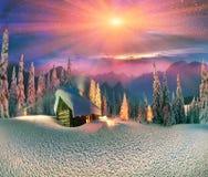 Natal nos Carpathians Fotografia de Stock Royalty Free