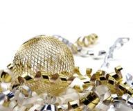 Natal - ornamento dourado imagem de stock