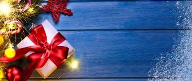 Natal ou presente do ano novo fotografia de stock
