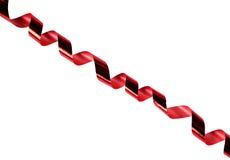 Natal ou twirl brilhante vermelho festivo da fita foto de stock royalty free