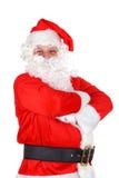 Natal - Papai Noel no branco Imagem de Stock Royalty Free