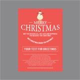 Natal para o tema do grupo de cartão Fotografia de Stock Royalty Free