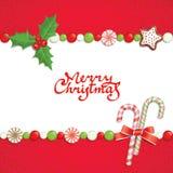 Natal postal Fotografia de Stock