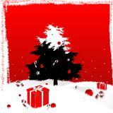 Natal preto e vermelho branco Imagens de Stock Royalty Free