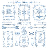 Natal, quadros do ano novo, beiras Grupo da decoração ilustração royalty free