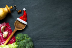 Natal que cozinha o fundo abstrato do alimento Fotos de Stock