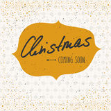 Natal que vem logo Imagens de Stock