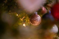Natal Rose Ball Detail imagem de stock