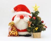 Natal Santa Card - foto conservada em estoque fotos de stock royalty free