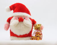 Natal Santa Card - foto conservada em estoque fotografia de stock royalty free