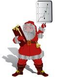 Natal Santa e negócio ilustração do vetor