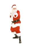 Natal: Santa Takes uma pose defensiva do karaté fotos de stock royalty free