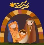 Natal santamente da família Imagens de Stock Royalty Free