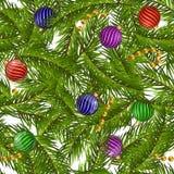 Natal sem emenda do teste padrão na terra preta Imagens de Stock Royalty Free