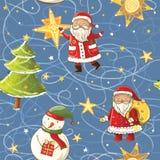 Natal sem emenda do vetor, teste padrão do ano novo Imagem de Stock Royalty Free