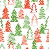 Natal sem emenda e teste padrão do ano novo, ilustração da decoração do vetor, fundo sazonal fotografia de stock