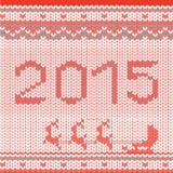 Natal sem emenda teste padrão feito malha Imagem de Stock