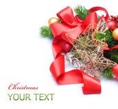 Natal sobre o branco Imagem de Stock Royalty Free