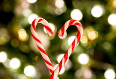 Natal Sugar Cane Heart Imagens de Stock Royalty Free