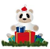 Natal Teddy Bear Fotografia de Stock Royalty Free