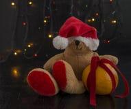 Natal Teddy Bear fotos de stock