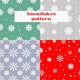 Natal, teste padrão sem emenda do ano novo com flocos de neve ilustração royalty free