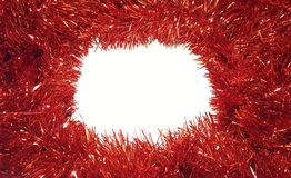 Natal Tinsel Garland On White Background fotos de stock royalty free