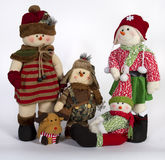 Natal Toy Family Decoration do inverno Imagem de Stock