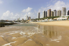 Natal urban beach with skyscrapers. Natal, Rio Grande do Norte, Brazil Royalty Free Stock Image