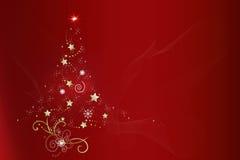 Natal vermelho da árvore de Natal background Imagens de Stock Royalty Free