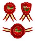 Natal vermelho do frame Ilustração Royalty Free