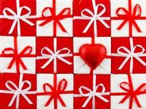 Natal vermelho e branco Imagens de Stock Royalty Free