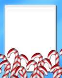 Natale 3 della canna di caramella Fotografia Stock