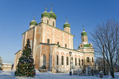 Natale al monastero russo fotografia stock