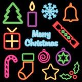 Natale al neon Fotografia Stock Libera da Diritti