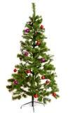 Natale-albero isolato sul fondo del whihte Fotografia Stock