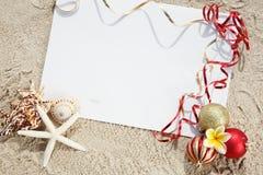 Natale alla spiaggia Fotografia Stock