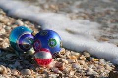 Natale alla spiaggia Immagine Stock Libera da Diritti